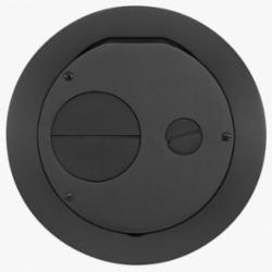 Hubbell Wiring Device-Kellems S1R FRPT 6 FURNITURE FEED COVER BLACK