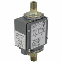 Square D 9012GGW4 PRESSURE SWITCH 480VAC 10AMP G +OPTIONS,-10...185 F,0...175 psi,0.25 inch 18 NPTF conforming to UL 508,0.5 inch NPT conduit entrance,120 operating cycles per minute (max),175 psi,Differential Pressure,NEMA 4/4X/13,Pressure Switch,SPDT (isolated),UL, CSA, IEC, CE-marked,Water tight, Dust tight, Oil tight and Corrosion Resistant (Indoor/Outdoor),air-non-corrosive gas-hydraulic oil (-40...250 deg.F)-non-corrosive liquids