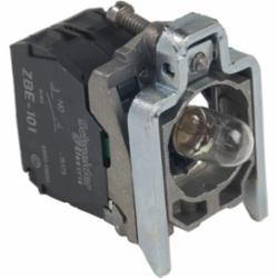 Schneider Electric ZB4BW06124 22mm Light Module Assy,1 NO,10A,600V,A600 - Q600,BA 9s,LED,Harmony XB4,Screw Clamp,light block,light block