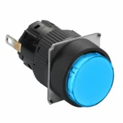 Schneider Electric XB6AV6BB PUSH BUTTON LIGHT MODULE 24V 16MM XB6,12...24 V AC/DC,16 mm,AC15 - DC13,Harmony XB6,LED,blue,integral LED,NEMA 4/4X/12,Panel,Quick Connect,UL Listed File Number E164353 CCN NKCR - CSA Certified File Number LR44087 Class 321103 - CE Marked,Water tight, Dust tight and Corrosion Resistant (Indoor/Outdoor),complete pilot light,complete pilot light,plastic