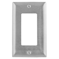 PREMISE WIRING SS26 Standard Wallplate, 1 Gang, 4.5 in H x 2.87 in W, 302/304 Stainless Steel