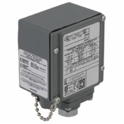 Square D 9012GEW2 PRESSURE SWITCH 480VAC 10AMP G +OPTIONS,-10...185 deg.F,0.25 inch 18 NPTF conforming to UL 508,0.5 inch NPT conduit entrance,120 operating cycles per minute (max),20...675 psi,675 psi,Fixed Differential,NEMA 4/4X/13,Pressure Switch,SPDT (isolated),Single Stage,UL, CSA, IEC, CE-marked,Water tight, Dust tight, Oil tight and Corrosion Resistant (Indoor/Outdoor),air-non-corrosive gas-non-corrosive liquids-hydraulic oil (-40...250 deg.F)