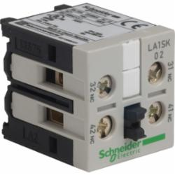 Schneider Electric LA1SK02 CONTACTOR ADDER DECK 2NC,-20...50 Adeg.C,10 A at <= 55 Adeg.C,2 NC,IP2x,TeSys,auxiliary contact block