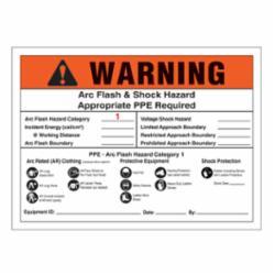 Panduit® Vinyl Adhesive Sign, 7 W x 5 H, 'WARNI