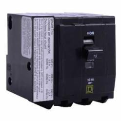 Square D QOB3151021 MINIATURE CIRCUIT BREAKER 240V 15A,10kA,15A,240 Vac,3-Phase,3P,Calibrated for use at 40 degrees C. See Data Bulletin 0100DB0101 for re-rating information.,Fiberglass filled thermoset molding material.,HACR rated,Miniature Circuit Breaker,Pressure Plate #14 to #8 AWG(Al/Cu),QO,Standard Bolt-On,UL Listed - CSA Certified