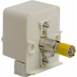 Schneider Electric 9001KM35LY 30MM LIGHT MODULE RESIST 24V LED YELLOW,24/28 V,Direct,Harmony,LED (yellow),Light Module,Light module for illuminating 30mm control units