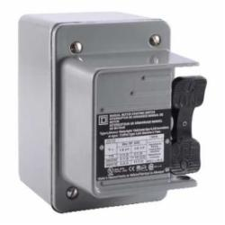 Square D 2510KW5 MANUAL SWITCH 600VAC K+OPTIONS,0.75 NPT (bottom) Screw Clamp,1-Phase,2HP@115VAC - 3HP@230VAC - 7.5HP@460VAC - 10HP@575VAC,2P,30A,600VAC/230VDC,K,NEMA 4,Non-Reversing Manual Switch,Provides manual ON/OFF control of single or three phase AC