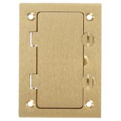 Wiring Device-Kellems S3826 Rectangular Style Line Opening Floor Box Cover, 4.35 in L x 3.1 in W, Brass