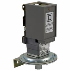 Square D 9012GNG1 PRESSURE SWITCH 480VAC 10AMP G +OPTIONS,-10...185 deg.F,0.2...10 psi,0.25 inch 18 NPTF conforming to UL 508,0.5 inch NPT conduit entrance,10 psi,120 operating cycles per minute (max),Fixed Differential,General Purpose (Indoor),NEMA 1,Pressure Switch,SPDT (isolated),Single Stage,UL, CSA, IEC, CE-marked,air-non-corrosive gas-non-corrosive liquids-hydraulic oil (-40...250 deg.F)
