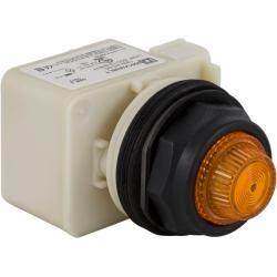 Schneider Electric 9001SKP38LYA31 PILOT LIGHT 120V 30MM SK +OPTIONS,30mm,Amber,Harmony,LED yellow,NEMA 1/2/3/3R/4/4X/6/12/13,Panel,Pilot Light,Round,Signalling,UL, CSA, CE,black plastic,normal