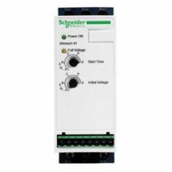 Schneider Electric ATS01N109FT SOFT START 110-480VAC 9 Amp ATS01,-10...40 deg.C without derating-40...50 deg.C with current derating of 2 per deg.C,1 hp at 210 V 3 phases-2 hp at 230 V 3 phases-5 hp at 460 V 3 phases,1 to 5 seconds (adjustable) No soft stop,200-480VAC (110-240VAC 1-Phase),24V or 110-240VAC,3 phases-single phase,9A,ATS01N1,integrated bypass,soft starter,Altistart 01,IP20,simple machine