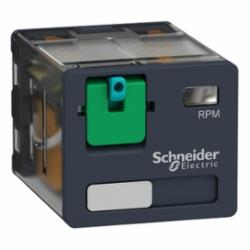 Schneider Electric RPM31BD PLUG-IN RELAY 250V 15A RPM +OPTIONS,(NO) AC 25ms DC 25ms (NC) AC 20ms DC 20ms,-40 to 131deg.F (-40 to 55deg.C),1200 operating cycles/hour,15A,24 VDC,3 NO/3 NC 3PDT,400 Ohms,B300,Flat/Spade (Faston Type),IP 40 conforming to IEC/EN 60529,Plug-In Socket (DIN rail or Flange with adapter),Power Relay,UL Listed - CSA Certified - CE Marked - RoHS Compliant