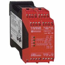 Schneider Electric XPSAK371144P SAFETY RELAY 300V 5A PREVENTA,24 V DC,3 LED Indicators -14 to 130 Degrees F,3 N.O. (Instantaneous) 1 N.C. - 4 Solid State,35 mm symmetrical DIN rail,EN 954-1 Category 4,Preventa,Preventa Safety automation,for emergency stop, switch, sensing mat/edges or safety light curtain monitoring,Preventa safety module,Terminal Block (removable) Screw Clamp