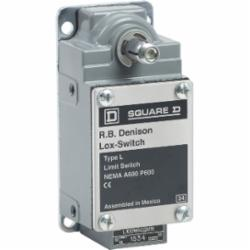 Square D L100WNC2M18 LIMIT SWITCH 600V 10AMP TYPE L +OPTIONS,-,-10...185 deg.F,1 NC + 1 NO,2 NC,1 entry for 1/2 - 14 NPT conforming to ANSI B1.20.1,fixed,20 A,600V,Conduit Entrance (0.5 Inch NPT) Screw Clamp,L100/300,fixed,limit switch,rotary head,L300-L100,L300-L100,rotary head,severe duty mill,NEMA 1/4/13,NEMA A600/P600,Panel,UL Listed File Number 42259 CCN NKCR - CSA Certified File Number LR25490 - Class 3211-03 - CE Marked,fixed,neutral position