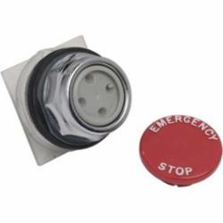 Schneider Electric 9001KR4R05 PUSHBUTTON OPERATOR 30MM,30 mm,AC15 - DC13,Harmony,NEMA 1/2/3/3R/4/6/12/13,No Contact Blocks,Panel,Pushbutton,Red,Snap-In Plastic Mushroom (35mm),UL File Number E42259 CCN NKCR - CSA File Number LR24590 Class 3211-03 - CE Marked,Water tight, Dust tight and Oil tight (Indoor/Outdoor),chromium plated metal,unmarked,momentary