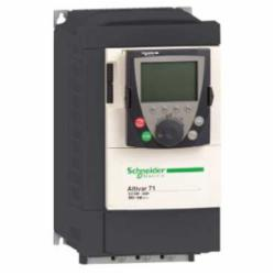 Schneider Electric ATV71HU30N4 SPEED DRIVE, 4HP, 460V, ATV71,220 of nominal motor torque for 2 seconds, 170 for 60 seconds,3 phases,3-Phase,3-Phase,3kW,400/480VAC,7.8A 4HP,AC Drive,AI1-/AI1+, AI2, AO1, R1A, R1B, R1C, R2A, R2B, LI1...LI6, PWR terminal 2.5 mmA? / AWG 14L1/R, L2/S, L3/T, U/T1, V/T2, W/T3, PC/-, PO, PA/+, PA, PB terminal 4 mmA? / AWG 10,Altivar 71,Altivar 71,Constant Torque,Frame 3,Graphic display keypad,IP20,Input 50/60 Hz,UL, CSA, CE, ABS, DNV, GOST, RoHS, WEEE, C-Tick, NOM 117