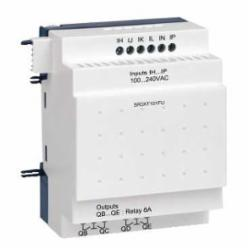 Schneider Electric SR3XT101FU ZELIO SR3 EXPANSION MODULE 10 I-O 100-240VAC,-20 to +55 Degrees C (+40 in enclosure) coforming to IEC 60068-2-1 and IEC 60068-2-2,120/240VAC,6 Discrete Inputs - 4 Relay Outputs,Screw Clamp,Smart Relay,UL Listed - CSA Certified,Zelio Logic 2