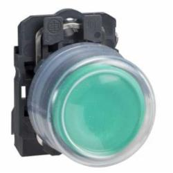 Schneider Electric XB5AP31 NON-ILLUM CLEAR BOOT-GREEN N/O EXTENDED,1 NO,22 mm,Harmony XB5,complete push-button,complete push-button,plastic,slow-break,spring return