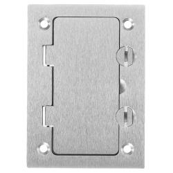 PREMISE WIRING SA3826 Rectangular Style Line Opening Floor Box Cover, 4.35 in L x 3.1 in W, Aluminum