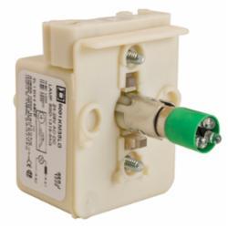 Schneider Electric 9001KM35LG 30MM LIGHT MODULE RESIST 24V LED GREEN,24/28 V,Direct,Harmony,LED (green),Light Module,Light module for illuminating 30mm control units