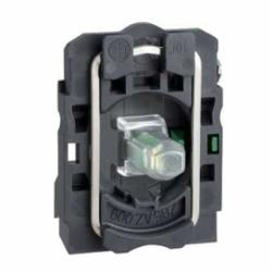 Schneider Electric ZB5AW0B41 RED 24V PROTECTED LED W/1 N/O CONTACT,1 NO,10A,600V,A600 - Q600,Electrical Component Contact Block + Light Module,Harmony,Screw Clamp