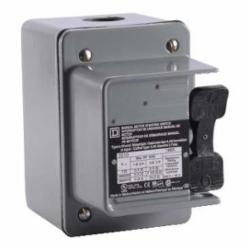Square D 2510KW1B MANUAL SWITCH 600VAC K+OPTIONS,0.75 NPT (bottom) Screw Clamp,1-Phase,2HP@115/230VAC - 3HP@460/575VAC,2P,30A,600VAC/230VDC,K,NEMA 4,Non-Reversing Manual Switch,Provides manual ON/OFF control of single or three phase AC motors where overlo