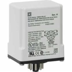 Square D 9050JCK2F15V20 TIMER RELAY 240VAC 10A T-JCK,11 Pin,120VAC - 110VDC,2 N.O./2 N.C. DPDT,Off Delay 15 Seconds,Tubular,UL Listed File Number E78351 CCN NLDX - CSA Certified File Number 214768 Class 321107 - CE Marked,socket,timer