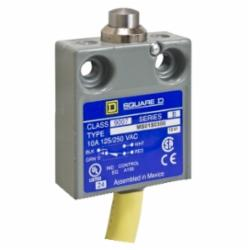 Square D 9007MS01S0100 LIMIT SWITCH 240VAC 10AMP MS +OPTIONS,#18 AWG SJTO Cable (Yellow) 3 Feet,-40...220 deg.F,10 A,240Vac/28Vdc,9007,fixed,limit switch,plunger head,9007MS/ML,miniature potted,plunger head,NC-NO,NEMA 1/2/4/6/6P/12/13 IP 67,Push Rod Vertical,UL Listed - CSA Certified - CE Marked,fixed,fixed,metal,linear