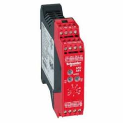 Schneider Electric XPSABV1133P Safety relay for e-stop, guards, 24 Vdc,24 V DC,35 mm symmetrical DIN rail,BG, CSA, UL, EN 1088/ISO 14119, EN/IEC 60204-1, EN/IEC 60947-5-1, EN/ISO 13850,IP20 conforming to EN/IEC 60529, IP40 conforming to EN/IEC 60529,Preventa,Preventa Safety automation,for emergency stop and switch monitoring,Preventa safety module,captive screw clamp terminals,relay instantaneous opening 2 NO, relay time delay opening 1 NO