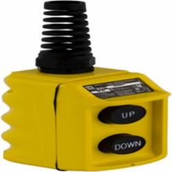 Square D 9001BW92Y PENDANT STATION 600VAC 5A T-BW,(2) pushbuttons,30mm,Harmony,Pendant Station,Plastic,Suited for hoist applications,UL, CSA,Yellow