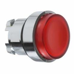 Schneider Electric ZB4BW14 PUSH BUTTON,22mm Round,Chromium Plated Metal,Harmony,IP 65,Illuminated Standard Button Extended,Momentary,NEMA 1/2/3/4/4X/13,Pushbutton Operator,Red Unmarked,UL Listed File Number E164353 CCN NKCR - CSA Certified File Number LR44087 Class 321103 - CE Marked