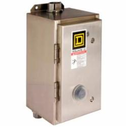 Square D 8536SCW12V03 STARTER 240VAC 36AMP NEMA +OPTIONS,1 phase,1P,2-Pole,240VAC@60Hz - 220VAC@50Hz,27 A,3HP@115VAC - 5HP@230VAC,600 V AC,NEMA 4/4X brushed stainless steel,S,Screw Clamp,UL Listed - CSA Certified,Used for Full-Voltage Starting and Stopping of AC Squirrel Cage Motors,melting alloy 1,starter