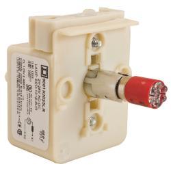 Schneider Electric 9001KM35LR 30MM LIGHT MODULE RESIST 24V LED RED,24/28 V,Direct,Harmony,LED (red),Light Module,Light module for illuminating 30mm control units