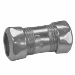 Appleton® 6075S ETP 6000S Compression Coupling, 3/4 in, For Use With EMT Conduit, Steel, Zinc Plated