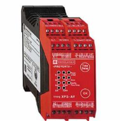 Schneider Electric XPSAV11113P SAFETY RELAY 300V 2.5A PREVENTA,24 V DC,35 mm symmetrical DIN rail,CSA, TV, UL, EN 1088/ISO 14119, EN 60204-1, EN/IEC 60947-5-1, EN/ISO 13850,IP20 conforming to EN/IEC 60529(terminals), IP40 conforming to EN/IEC 60529(enclosure),Preventa,Preventa Safety automation,for emergency stop and switch monitoring,Preventa safety module,captive screw clamp terminals,relay instantaneous opening 3 NO, relay time delay opening 3 NO