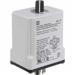 Square D 9050JCK24V14 TIMER RELAY 240VAC 10A T-JCK,11 Pin,2 N.O./2 N.C. DPDT,24V,Off Delay 1.2 - 120 Seconds,Tubular,UL Listed File Number E78351 CCN NLDX - CSA Certified File Number 214768 Class 321107 - CE Marked,socket,timer