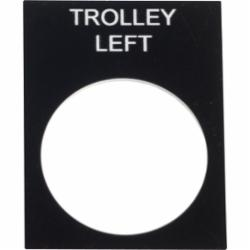 Schneider Electric ZB2BY2346 NAMEPLATE (T,30 x 40 mm,TROLLEY LEFT,marked legend,UL Listed File Number E164353 CCN NKCR - CSA Certified File Number LR44087 Class 321103 - CE Marked,legend,marked legend,push-button