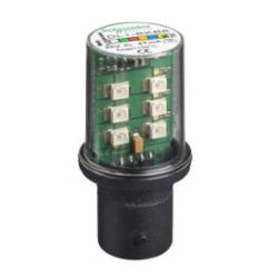 Schneider Electric DL1BKB8 Flashing LED, 24 Vac/Vdc Yellow/Amber,24V,Harmony,LED bulb,protected LED bulb,yellow