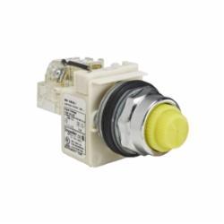 Schneider Electric 9001KT38LYY31 PILOT LIGHT 120VAC 30MM TYPE K +OPTIONS,30mm,Harmony,LED yellow,NEMA 1/2/3/3R/4/6/12/13,Panel,Pilot Light,Round,Signalling,UL listed, CSA, CE,Yellow,chromium plated metal,push-to-test
