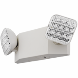 LITH EU2LEDHOM6 WHITE THERMOPLASTIC EMERGENCY LIGHTING UNIT ADJUSTABLE LED LAMP HEADS, HI-OUTPUT, NI-CAD BATTERY BACK-UP