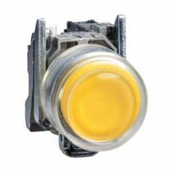 Schneider Electric XB4BP51 NON-ILLUM CLEAR BOOT YELLOW EXTENDED N/O,1 NO,22 mm,Harmony XB4,chromium plated metal,complete push-button,complete push-button,slow-break,spring return