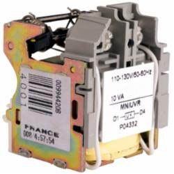 Square D S29406 CB UNDERVOLTAGE TRIP 110-130V AC,110/130V AC,Instantaneously opens the circuit breaker when the under-voltage trip supply drops to 35 and 70 of its rated voltage,NA,PowerPact,Under Voltage Trip
