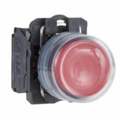 Schneider Electric XB5AP42 NON-ILLUM CLEAR BOOT-RED EXTENDED N/C,1 NC,22 mm,Harmony XB5,complete push-button,complete push-button,plastic,slow-break,spring return