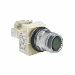 Schneider Electric 9001K1L5R PUSHBUTTON OPERATOR 30MM TYPE K +OPTIONS,30 mm,chromium plated metal,unmarked,momentary