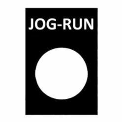 SQD ZB2BY2365 NAMEPLATE JOG-RUN
