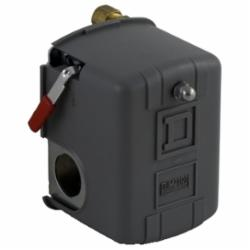 Square D 9013FSG2J20M4 PRESSURE SWITCH 575VAC 1HP F +OPTIONS,0.25 inch NPSF internal conforming to UL 508,10 to 45 PSIG,15...30 psi,20...40 psi,20...65 psi,65 psi (5...45 psi),220 PSIG,DPST,General Purpose (Indoor),NEMA 1,Pressure Switch,Pumptrol,Screw Clamp,UL listed, CSA,control electrically driven water pumps,fresh water (-22...257 deg.F),low pressure cut-off (AUTO-START-OFF) operates roughly 10 PSIG below cut-in