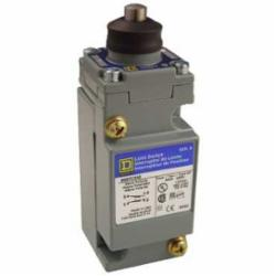 Square D 9007C62E LIMIT SWITCH 600V 10AMP C +OPTIONS,-,metal,plug-in,-20...185 deg.F for standard environment,0.5 Inch NPT Conduit Entrance (screw clamp terminals),1 entry for 1/2 - 14 NPT conforming to ANSI B1.20.1,plug-in,10 A,2(NC-NO),600V,9007,limit switch,plug-in,plunger head,9007C,heavy duty,plunger head,NEMA A600/R300,Top Push-Rod Vertical,UL Listed - CSA Certified - CE Marked,linear,standard environment