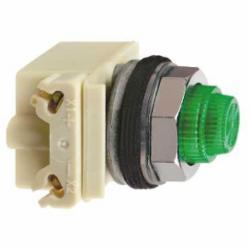 Schneider Electric 9001KP35LGG31 PILOT LIGHT 28V 30MM TYPE K +OPTIONS,30mm,Chromium Plated Metal,Harmony,LED (Green) 24/28V,NEMA 1/2/3/3R/4/6/12/13,Panel,Pilot Light,Round,Signalling,UL, CSA, CE