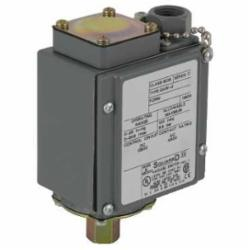 Square D 9016GAW22 VACUUM SWITCH 480VAC 10 AMP G +OPTIONS,-10 to 185deg.F (-23 to 85deg.C),0 to 25,1/2 -14 NPT (internal) Conduit Connection,1/4 -18 NPTF (internal),100 psi,100 psi,2(NC-NO) DPDT Form ZZ snap action silver nickel contacts,<= 120 cyc/mn -10...185 deg.F,Hydraulic Oil, Noncorrosive Liquids, Air and Noncorrosive Gas,NEMA 4/4X/13,UL Listed File E12443 CCN NOWT - CSA Certified File LR25490 - CE Marked,Water tight, Dust tight, Oil tight and Corrosion Resistant (Indoor/Outdoor),control circuit,electromechanical vacuum switch,regulation between two thresholds