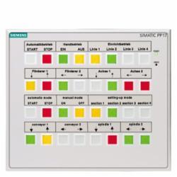 Siemens PANEL PP17-1 32 PB/32 PL HMI